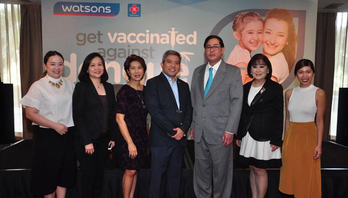 Watsons Team Sai Pascual, Aida Lopez, Viki Encarnacio, Danilo Chiong, Belle Pesayco, Krista Tan with Dr. Rontgene Solante