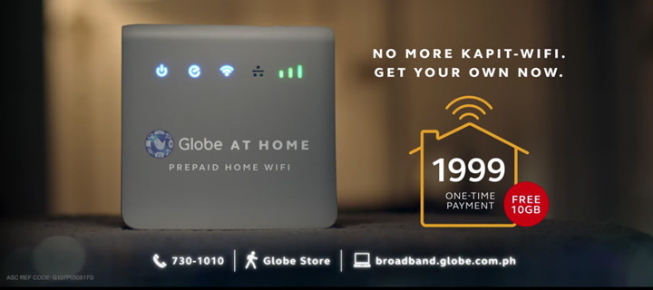 Globe At Home's Prepaid Home WIFI device is a no-installation, no-monthly-fees Internet connection option