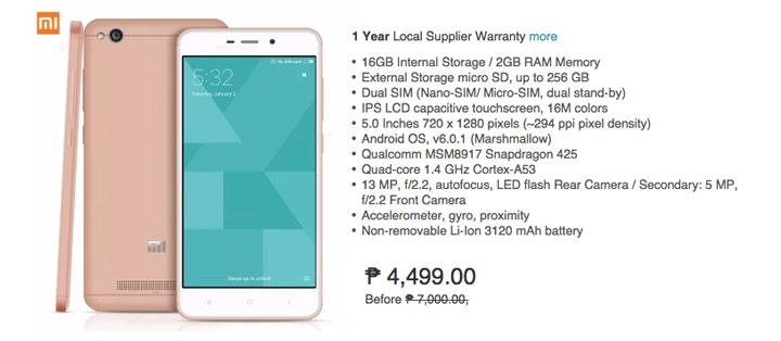 Lazada Big App Sale, Xiaomi Redmi 16GB