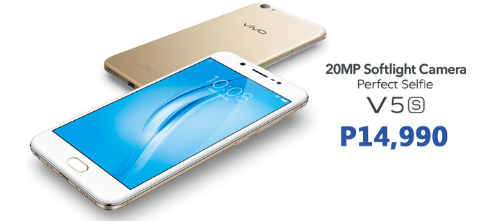 Vivo V5s with 20MP selfie camera and 64GB storage now available for P14,990