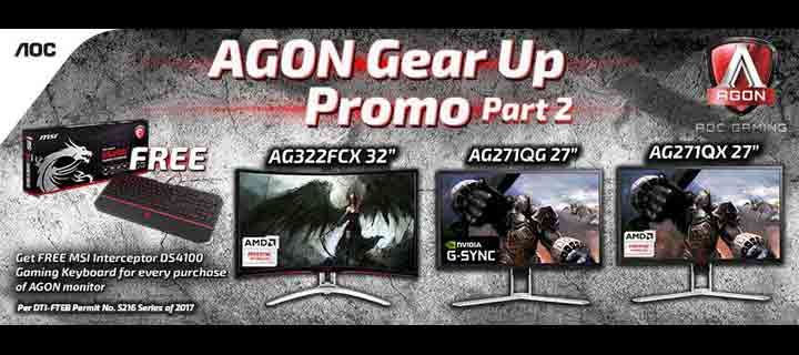 Join the AGON Gear Up Promo Part 2 to get a FREE gaming keyboard