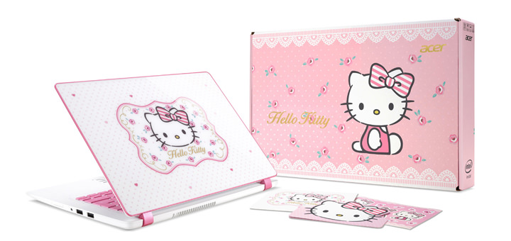 Pink and Productive – Get the Acer Limited Edition Hello Kitty Core i5 4GB RAM Laptop