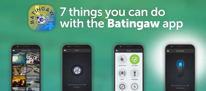 Be prepared for disasters with the Batingaw mobile app