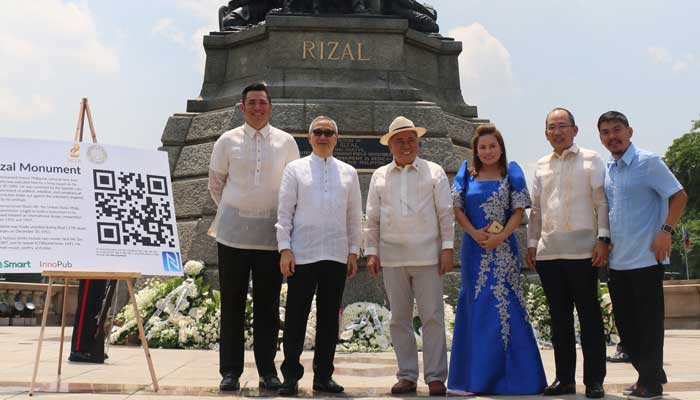 The launch of the Kultoura app was held at Rizal Park to commemorate the 156th birthday of National Hero Jose Rizal. Leading the launch were Smart AVP/Head of Community Engagement and Partnerships Gabby R. Cui, PLDT and Smart Public Affairs Group Head Ramon R. Isberto, NCCA Chairman Virgilio Almario, National Parks Development Committee Executive Director Penelope Belmonte, DOT Undersecretary for Oversight Function for Legislative Matters Falconi Millar, and InnoPub Media co-founder Max Limpag.