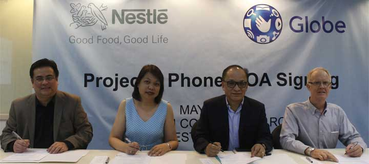 Nestle Philippines joins Globe Telecom's Project 1 Phone