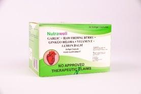 Generika Drugstore, Nutrawell Garlic + Hawthorne Berry + Ginkgo Biloba + Vitamin E + Lemon Balm Capsule