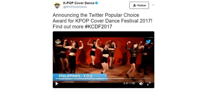 Vote for the First Ever 'Twitter Popular Choice Award' at K-Pop Cover Dance Festival 2017