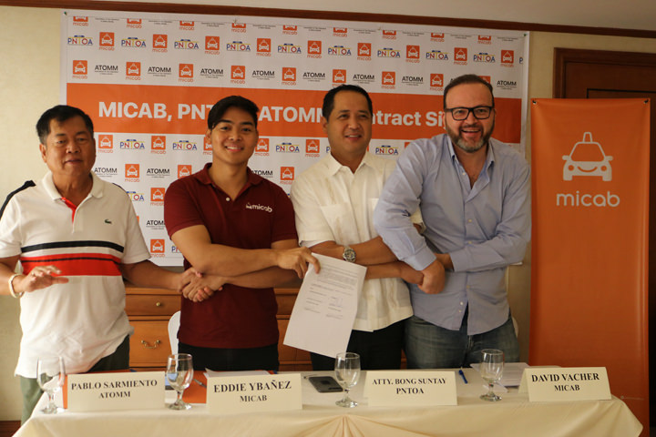 MiCab, ATOMM, PNTOA, Bong Suntay, ride-sharing app