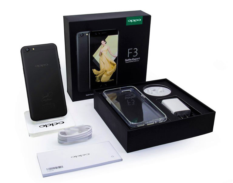 OPPO F3 Sarah Geronimo Limited Edition Package