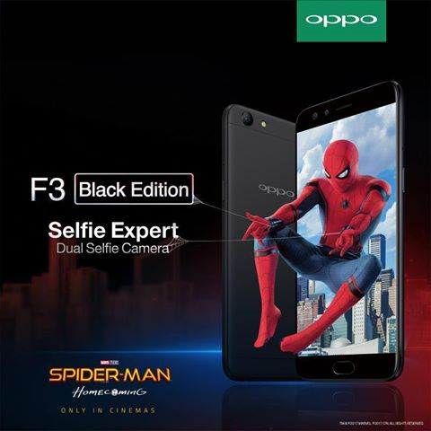 #OPPOxSpiderman, OPPO F3, Spider-Man: Homecoming