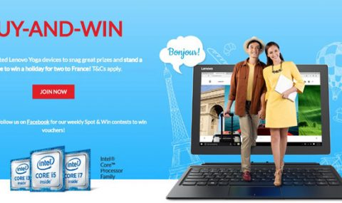 Get a Chance to Win a Holiday for Two to France Through Lenovo's Buy and Win Promo