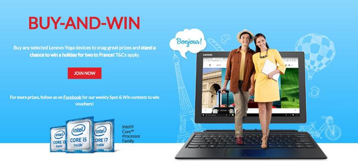 Lenovo Yoga Buy and Win Promo