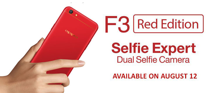 Get the OPPO F3 Limited Red Edition starting August 12