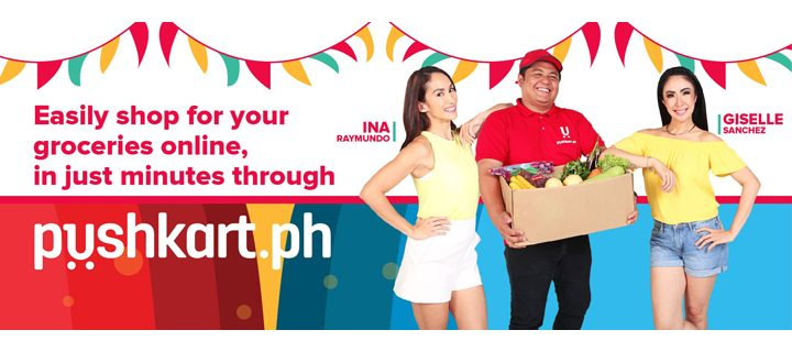 Order your groceries online through Pushkart.ph