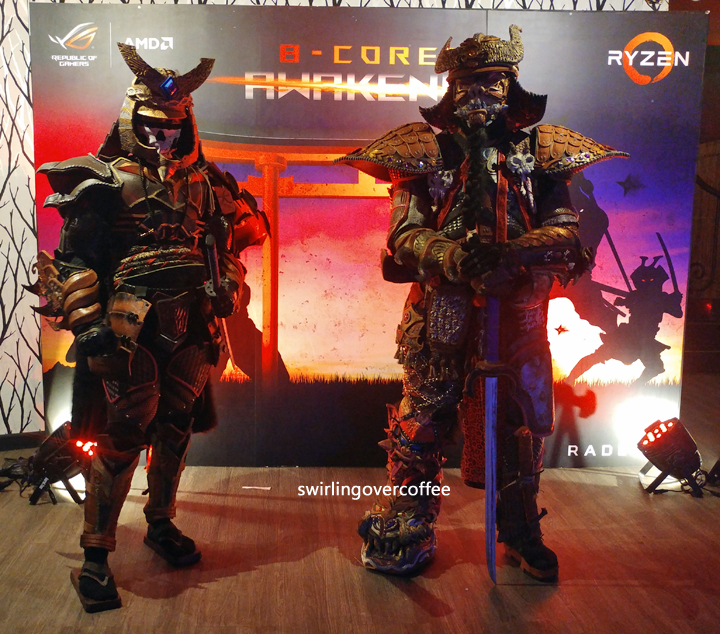 "Cosplayed as Feudal Japan Warriors are these ""vanguards"" at the ASUS x Ryzen event where the ROG Strix GL702ZC was launched."