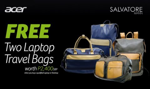 Get Limited Edition Salvatore Mann Leather Bags when you buy select Acer laptops, desktops, and projectors