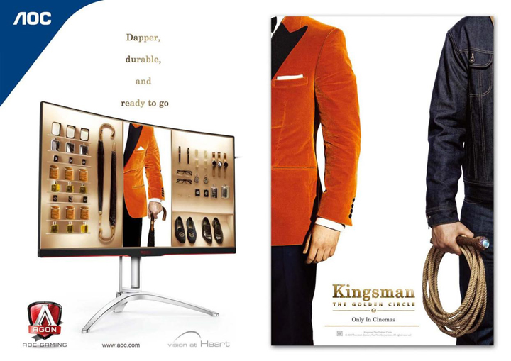 AOC Partners with Twentieth Century Fox Film to Promote Theatrical Release of 'Kingsman: The Golden Circle'