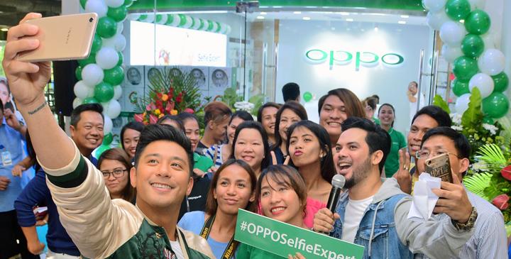 OPPO opens Ayala Center Cebu concept store, with OPPO influencer Rocco Nacino