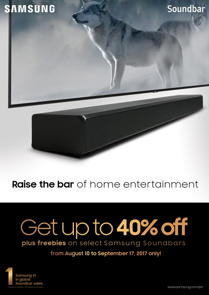 Last chance to raise the bar of home entertainment with Soundbar Festival Nationwide Promo