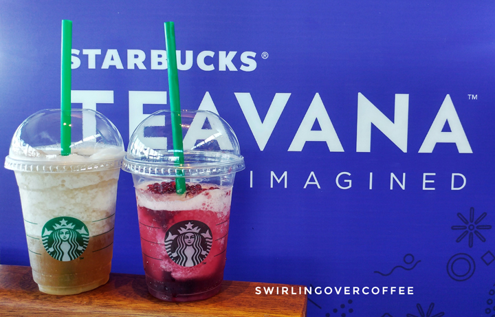 Starbucks Hibiscus Tea with Pomegranate Pearls, Starbucks Chamomile Tea with Kyoho Grape and Aloe
