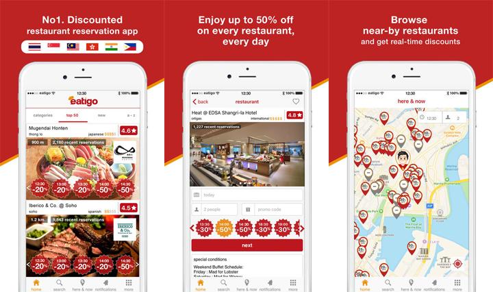 Eatigo Mobile App, Eatigo on iOS, Eatigo on Android