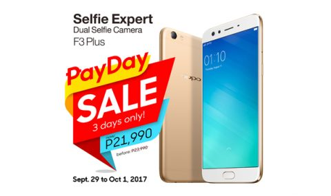 Get the OPPO F3 Plus for only P21990 during this Payday Weekend Sale!