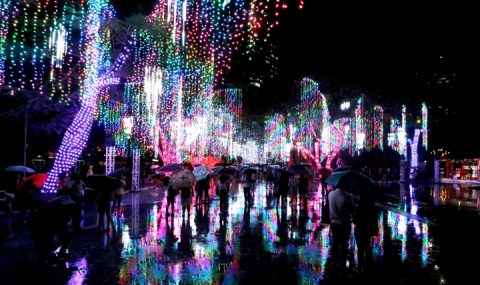 The Yuletide season kicked off the Festival of Lights at Ayala Triangle Gardens