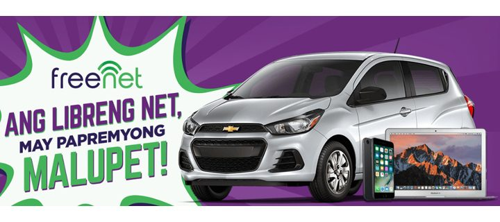 Papremyong Malupet – Download the freenet app for a chance to win a Chevrolet Spark and Apple gadgets