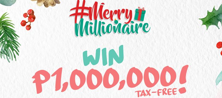 PayMaya Merry Millionaire promo will give away 1 million pesos to 1 winner and P10k each to 45 winners