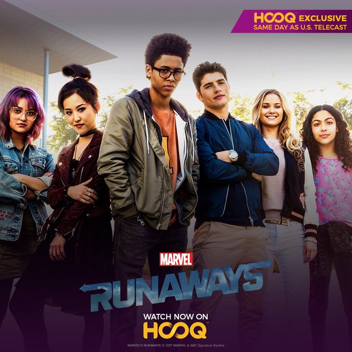 Watch Marvel's Runaways in the Philippines on the same day of its US airing.