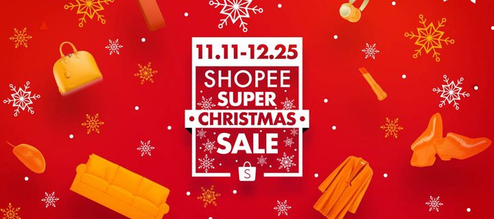 Shopee's Super Christmas Sale 2017 happens from Nov 1 to Dec 25