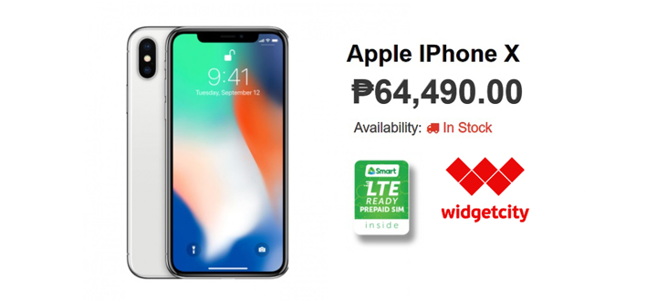 Get the iPhone X for P64,490 at Widget City