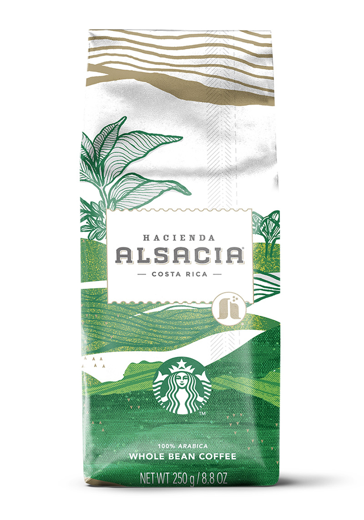 Starbucks brings to the Philippines Hacienda Alsacia, its prized coffee sourced from the company's own farm in Costa Rica. This special pack used to be served exclusively at the Starbucks Reserve Roastery and Tasting Room in Seattle, but is now available at Starbucks stores nationwide for Filipinos to enjoy.