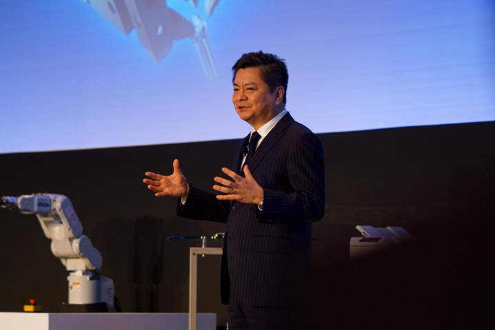 Mr. Munenori Ando, Executive Officer, General Administrative Manager, Sales & Marketing Division- Seiko Epson Corporation during the Key Product Showcase