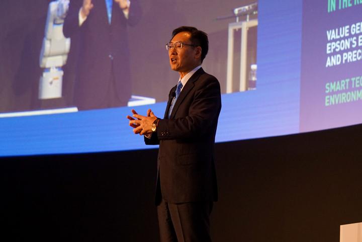 Seiko Epson Corporation President Minoru Usui delivered the keynote address during Epson Singapore's 35th Anniversary.