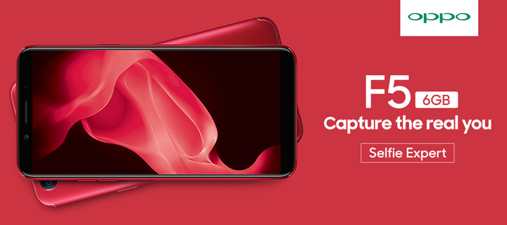 Limited Edition Red OPPO F5 has 6GB RAM and 64GB storage, sells for P21,990