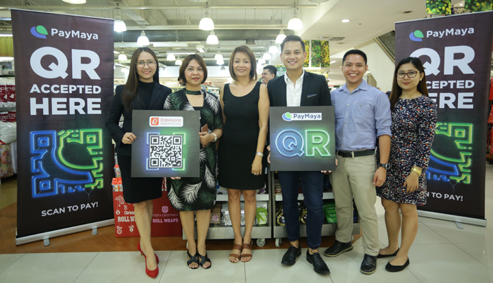 PayMaya QR payment system deployed at Robinsons Malls