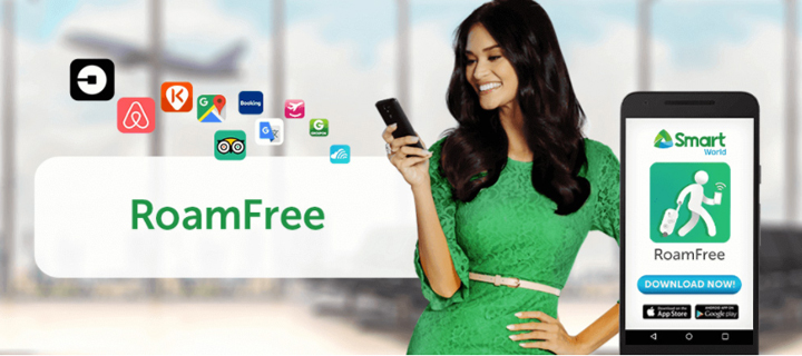 Connect to your favorite travel apps abroad for free with Smart's RoamFree app