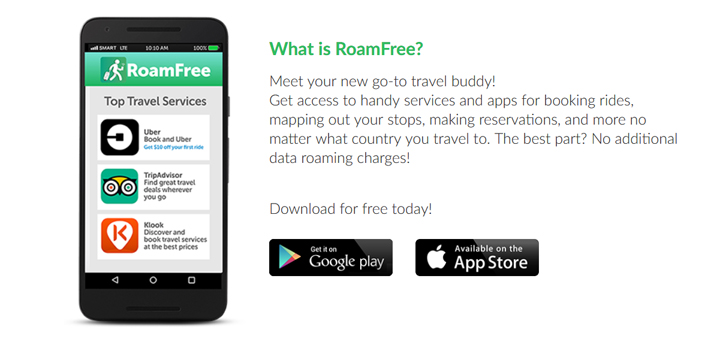 Smart RoamFree App on iOS and Android