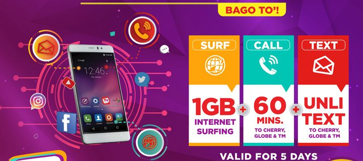 Cherry Prepaid launches its FIRST Tri-Net Data Combo Offer – Only P70!