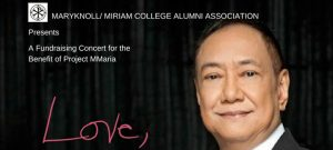 """The Maryknoll/Miriam College Alumni Association (MMCAA) presents """"Love, Basil"""", a post-Valentine's concert featuring OPM and inspirational balladeer and one of People Asia's 2017 People of the Year, Basil Valdez."""