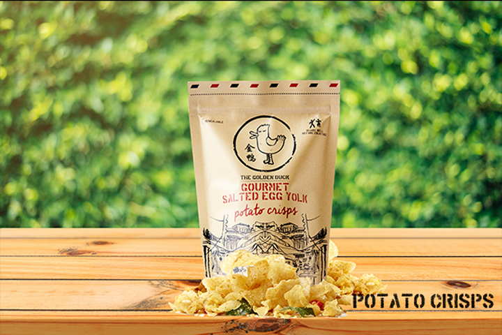 The Golden Duck Salted Egg Yolk Potato Crisps