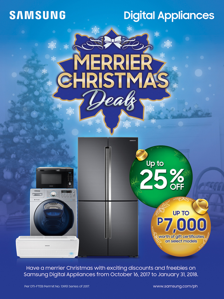 Samsung Merrier Christmas Deals 2017 extended to January 31, 2018.