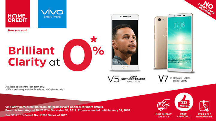 Take home your new Vivo smartphone with Home Credit's installment promos at 0% interest rate