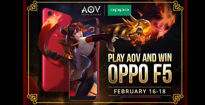 OPPO cuts the price of F5 Red 6GB, holds an Arena of Valor raffle, and invites everyone to the OPPO booth at UP Sunken Garden