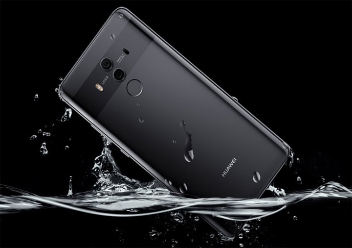 Huawei Mate 10 Pro IP67 water and dust resistance