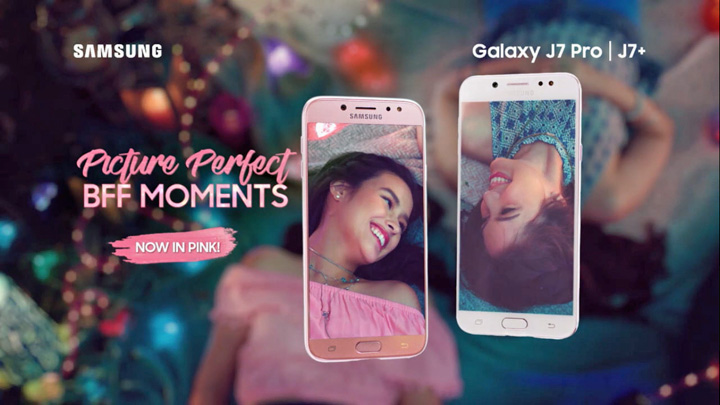 Samsung Galaxy J7+ and J7 Pro now available in pink, Michelle Vito is the newest brand ambassador of the pink variant.