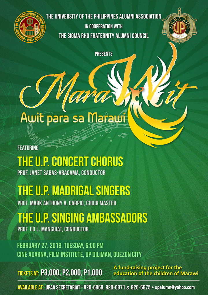 """MarAwit… AwitparasaMarawi"" aims to raise funds for the education of affected children in Marawi City in light of its take over by ISIS."