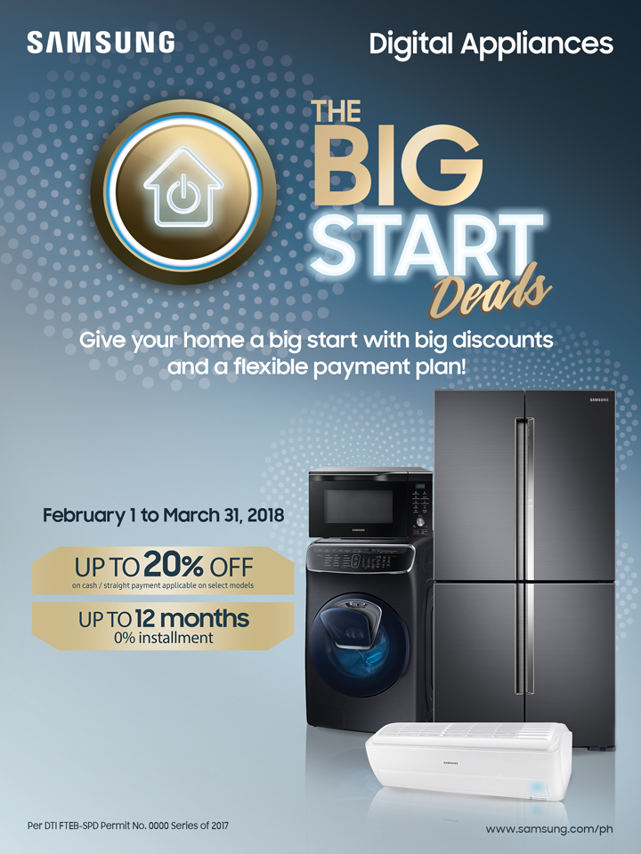 Jumpstart the year with Samsung Digital Appliances and upgrade to a new and stylish home