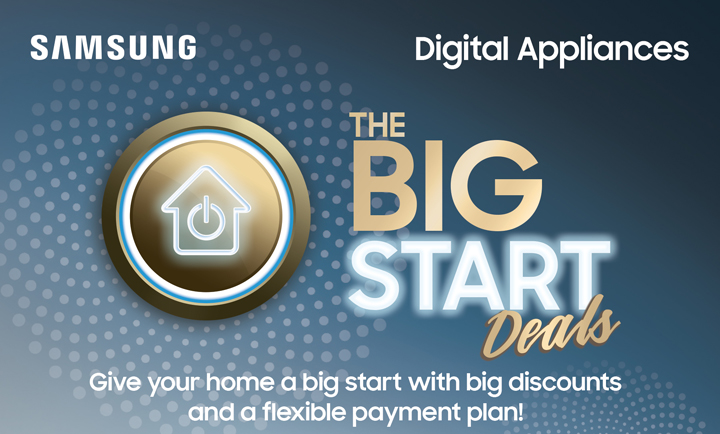 Jumpstart the year with Samsung Digital Appliances' The Big Start Deals!